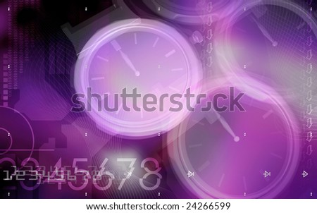 Digital illustration of gears in a watch