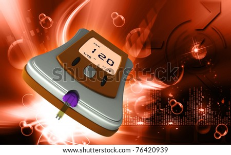 Digital illustration of Glocometer in color background