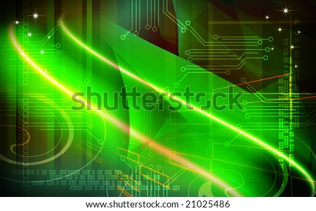 Digital illustration of green colour background