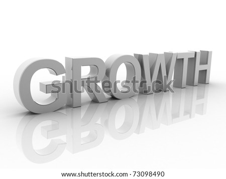 Digital illustration of growth in 3d on white background - stock photo