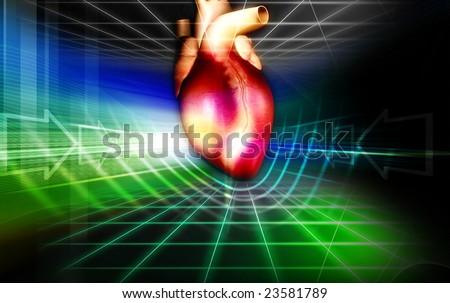 Digital illustration of heart 	 - stock photo