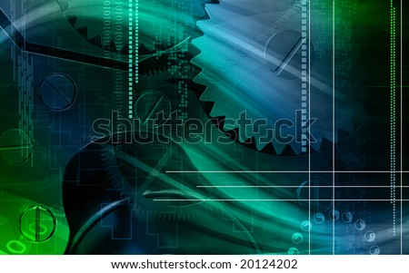 Digital illustration of Industrial background