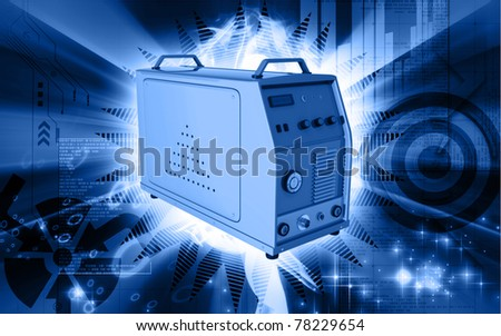 Digital illustration of inverter in colour background