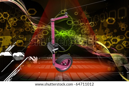 Digital illustration of Jockey wheel in colour background