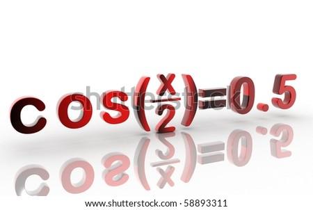 Digital illustration of letter in white background - stock photo