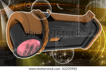 Digital illustration of light in colour background