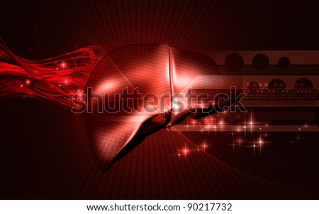 Digital illustration of  liver  in  colour  background - stock photo