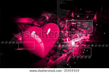 Digital illustration of love symbol