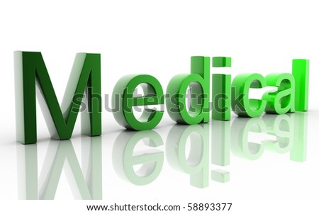Digital illustration of medical in white background - stock photo