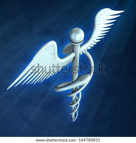digital illustration of medical symbol in digital background - stock photo