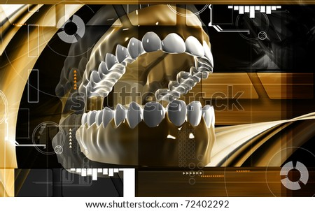 Digital illustration of  Mouth in colour background  - stock photo