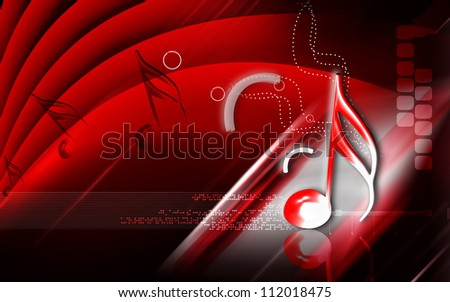 Digital illustration of Music sign in isolated background