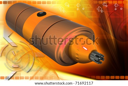 Digital illustration of nose and ear trimmer in colour background