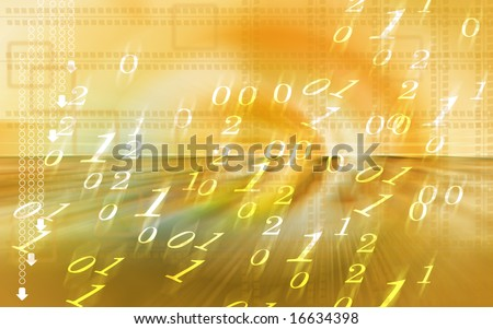 Digital illustration of number background