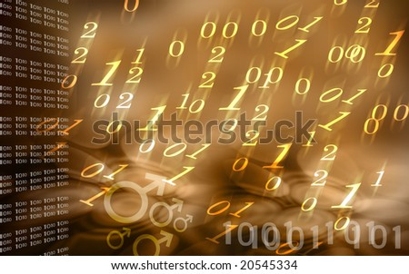 Digital illustration of numbers background