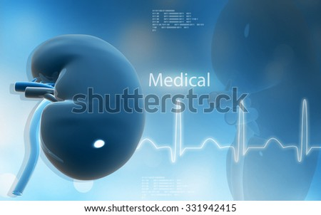 Digital illustration of ophthalmoscope in colour background  - stock photo