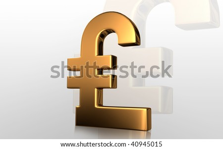 Digital illustration of pound sign in isolated background