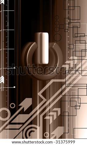 Digital illustration of power sign in brown  colour background