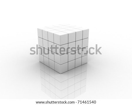 Digital illustration of Puzzle in 3d