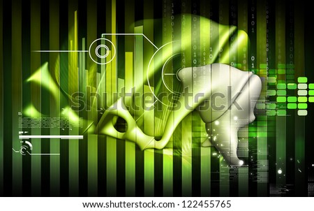 Digital illustration of  stapes in colour  background - stock photo