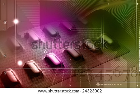 Digital illustration of tablet stripe