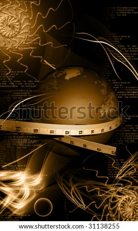 Digital illustration of Tape and earth