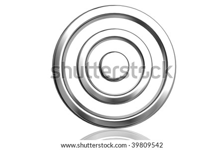 Digital illustration of  target  sign in isolated background