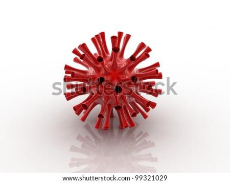 Digital illustration of VIRUS in 3d on white background - stock photo