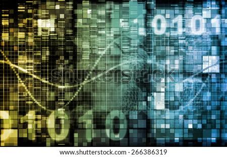 Digital Image Background with Binary Code Technology background - stock photo