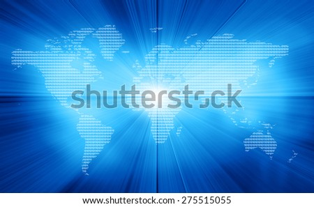 Digital image of binary world 	 - stock photo