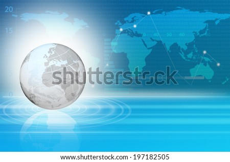 digital image of the globe, business background - stock photo