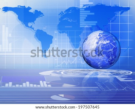 digital image of the globe, business background