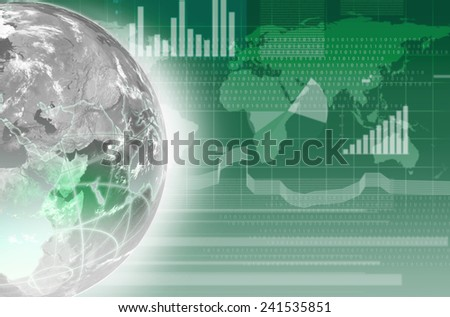 digital image of the globe, business background - stock photo