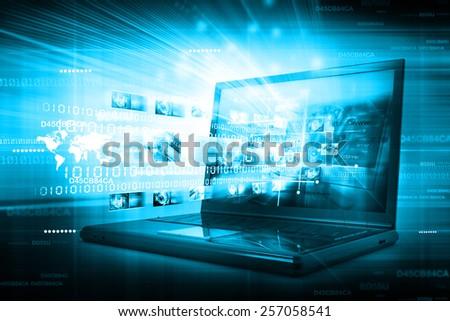 Digital Internet technology - stock photo