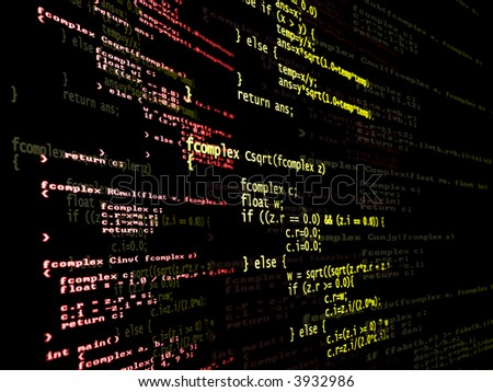 Digital language code from a computer program. - stock photo