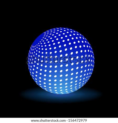 Digital Light Ball. Rasterized copy - stock photo