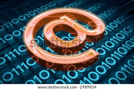 digital mail - stock photo