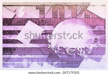 Digital Management Rights and Automation as Art - stock photo