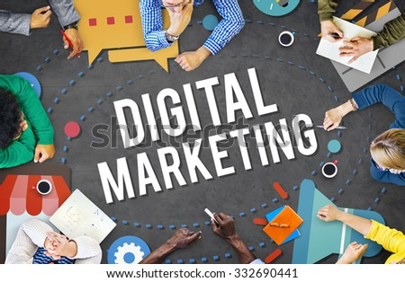 Digital Marketing Business Advertising Commercial Concept - stock photo