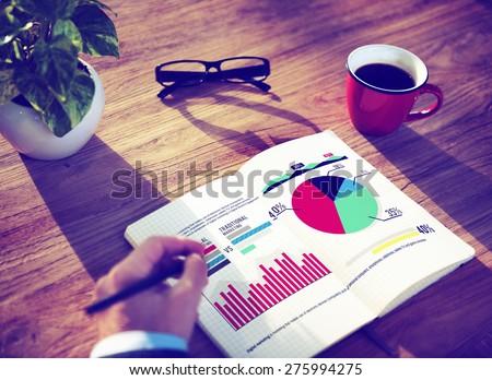 Digital Marketing Graph Statistics Analysis Finance Market Concept - stock photo
