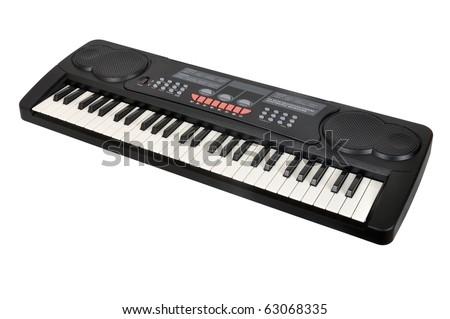 Digital midi keyboard - stock photo
