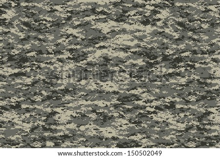 Digital military camo texture, for future military usage concept - stock photo