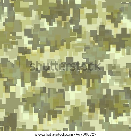 Digital / Modern Camouflage Seamless Pattern. Perfectly tile-able