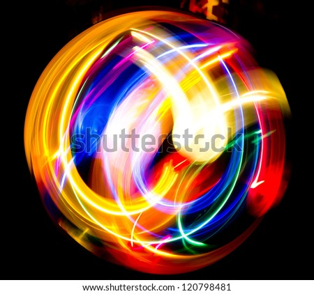 Digital Motion Fractal Artwork - stock photo
