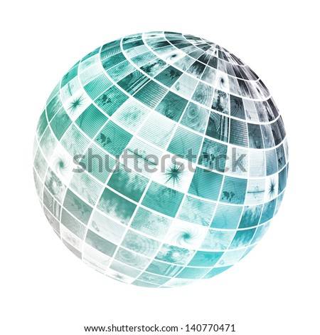 Digital Multimedia Content on the Internet or Web - stock photo