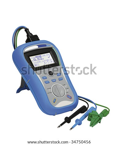 Digital multimeter isolated on a white - stock photo
