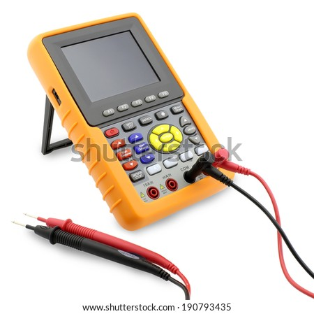 Digital Multimeter - Stock Image isolated on white background - stock photo