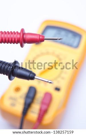 Digital multimeter tips - stock photo