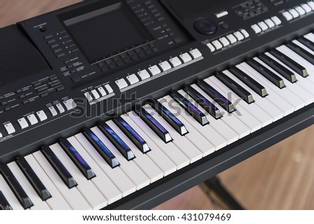 Digital Musical Instrument - Electronic Piano Keyboard - stock photo
