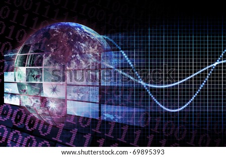 Digital Network as a Business Requirement Art - stock photo